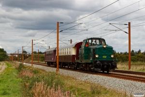 DSB MT 152+Buh 704+CLE 1672 som VM 220803 Lk-Oj. Km 54,6 Fa (Sommersted-Vojens) 01.09.2018.