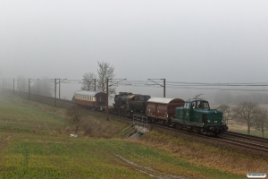 DSB MT 152+Hs-t 49804+E 987+VtV Uis+DSB Buh 704 som VM 222604 Bm-Rg. Km 12,2 Fa (Taulov-Kolding) 07.03.2020.