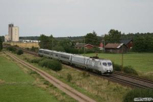 SJ X2 som RST 438. Väring - Moholm 27.08.2009.