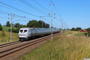 SJ X2 som RST 10414. Falköping - Stenstorp 23.06.2018.