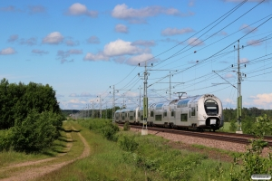 SJ X40 3315+X40 3328 som RST 90551. Älgarås - Slätte 17.06.2017.