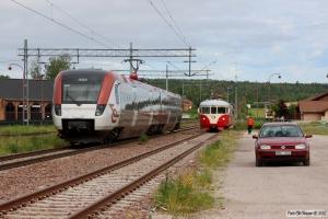 X51 9022 som RST 7524 og TKAB X20 202. Rättvik 12.06.2013.