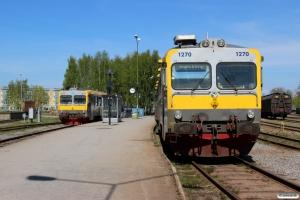 VTA Y1 1270 og Y1 1272. Mariestad 08.05.2016.