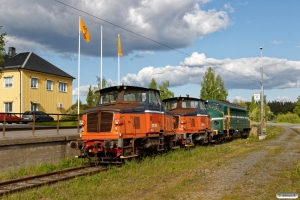 NRFAB Z70 724, Z 70 704 og RCT Di3.621. Långsele 14.06.2017.