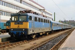 MÁV V43 1149 med Tog 8515. Budapest-Déli 14.04.1991.