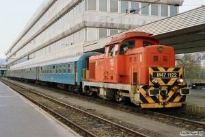 MÁV M47 1122. Budapest-Déli 14.04.1991.