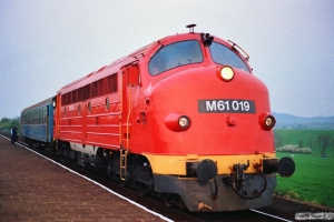 MÀV M61 019 med Tog 9741. Aszófô 15.04.1991.
