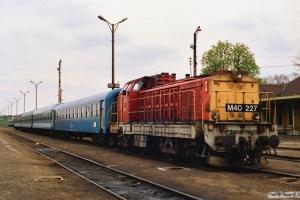 MÀV M40 227. Tapolca 17.04.1991.