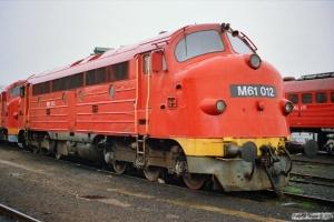 MÁV M61 012. Tapolca 18.04.1991.
