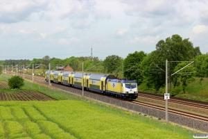 MET 146 539-2 med ME 81613. Radbruch - Bardowick 10.05.2014.