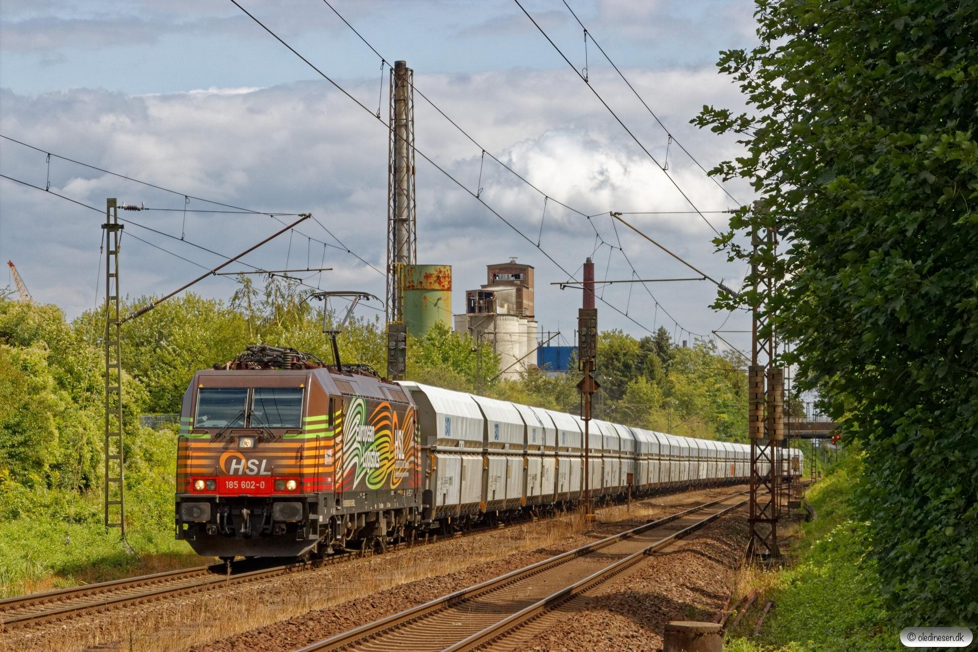 BRLL 185 602-0+Falns vogne. Misburg 13.08.2019.