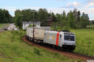 CN 185 698-9 med GT 41962. Helgum - Långsele 20.06.2018.