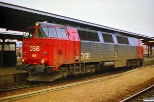 DSB MZ 1418 solo som G 7283 Ng-Fra. Odense 24.03.1988.