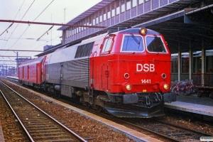 DSB MZ 1441+Pbm som G 9482 Kb-Kh. Roskilde 02.05.1989.