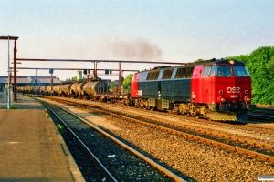 DSB MZ 1406+Rs+16 EVA/VTG tankvogne+Rs som G 8758 Fa-Pa. Fredericia 07.07.1989.