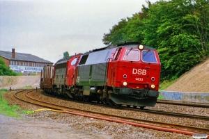 DSB MZ 1433+MY 1153 med G 7951 Gb-Ab. Odense 16.08.1989.