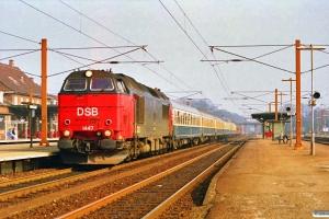 DSB MZ 1447 med P 397 Kh-Rf. Ringsted 17.03.1990.