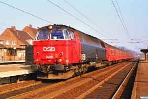 DSB MZ 1445 med P 5051 Hgl-Nf. Ringsted 17.03.1990.