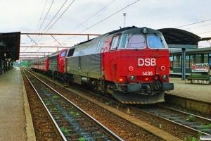 DSB MZ 1436+MY 1151 med P 5016 Nf-Hgl. Roskilde 18.08.1990.