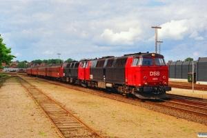 DSB MZ 1425+MZ 1403+B+AB+B+Bf som Re 3158 Ar-Fa. Horsens 24.06.1991.