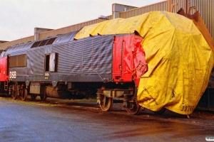 DSB MZ 1454 - Skadet i Næstved 25/9-92. Århus 20.11.1992.