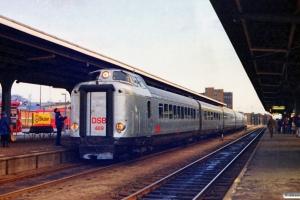 DSB BS 489+AM+BMk+AM+MA 462 som P 8349 Kh-Str. Præsentation af Sølvpilen. Odense 03.01.1984.