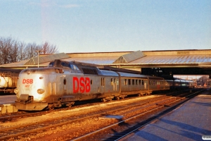 DSB MA 467+MA 461 med L 123 Kh-Str. Fredericia 23.12.1989.