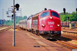 DSB MY 1133+MA 469+BS 487 som Materieltog Rj-Hgl. Odense 14.06.1989.