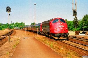 DSB MY 1113+Bcm 424+426+427 som P 13185 Ar-Pa. Skanderborg 07.07.1989.