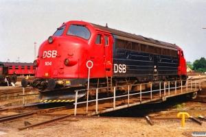 DSB MY 1104. Nyborg Færge 08.08.1989.