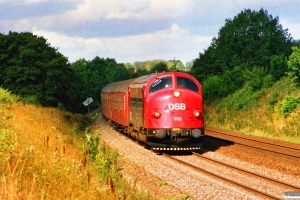 DSB MY 1130+3 Bn+Bns som P 1534 Te-Kh. Km 23,4 Ng (Marslev-Odense) 25.08.1989.