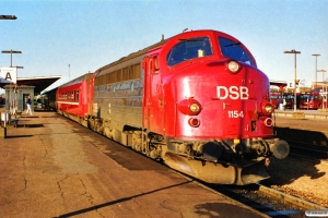 DSB MY 1154 med IC 120 Ar-Kh. Odense 15.10.1989.