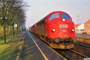 DSB MY 1155+MY 1158 med IC 120 Ar-Kh. Middelfart 18.03.1990.