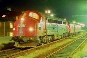 DSB MY 1125+P som G 7701 Fa-Hr. Fredericia 26.05.1990.