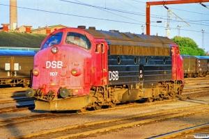 DSB MY 1107 - Lok til G 7235 Od-Ap. Odense 03.07.1990.