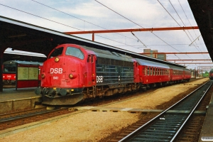 DSB MY 1141+B+B+Bk som P 2753 Od-Fa. Odense 24.08.1990.