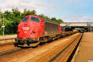 DSB MY 1131+21 skinne-/svellevogne som G 8914 Sø-Fa. Fredericia 21.09.1990.