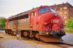 DSB MY 1141 - Skadet under rangering i Kolding med G 842051 Kd-Pa den 13/5. Århus 27.05.1991.