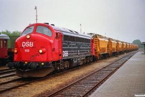 DSB MY 1113+ballastrensetog som G 8216 Bm-Tl. Bramming 24.06.1991.