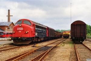 DSB MY 1115 med G 7749 Ar-Hr. Silkeborg 26.06.1991.