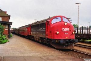 DSB MY 1129+B+Bf+3 Bn som P 8008 Pa-Kh. Padborg 27.06.1991.