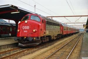 DSB MY 1143+Bn-n+Bn-n+Bk+BDan+MY 1121 som P 8086 Re-Ngf. Odense 30.06.1991.