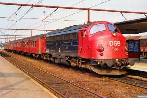 DSB ABns+Bn-v+Bn+MY 1158 som Re 2440 Næ-Ro. Roskilde 02.07.1991.