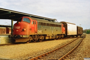 DSB MY 1118 - Lok til G 7762 Sk-Hr. Skive 30.12.1991.