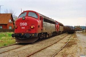 DSB MY 1135+MY 1137 rangerer. Korinth 23.04.1992.