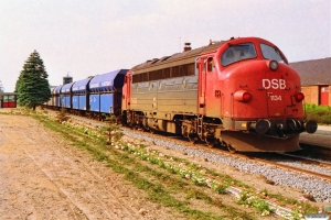 DSB MY 1113+18 Fals+MY 1134 som G 87680 Hr-Es. Skjern 25.06.1992.