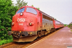 DSB MY 1146+4 B som M 7930 Fh-Ab. Brønderslev 29.06.1992.