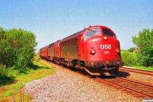 DSB MY 1135+MZ 1420+BDn+Ba+Ba som Re 3752 Str-Fa. Hjerm 11.05.1994.