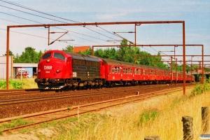 DSB MY 1134+3 Bn-v+Bn-o+Bn-v+Bn-o+B-t som IR 8361 Kh-Str. Odense 20.07.1994.