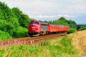 DSB MY 1153+Ba+B-t+Ba som RV 3745 Fa-Str. Km 5,9 Fa (Fredericia-Børkop) 01.09.1995.